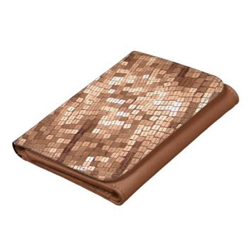 Shiny Sparkly Copper Colored Sequins Wallet