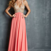 Night Moves 7082 Beaded Halter Gown
