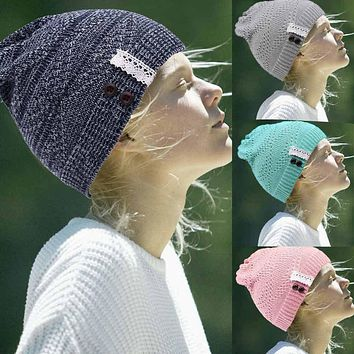 Womens Winter Knitted Beanie Hat