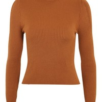 Puff Sleeve Roll Sweater