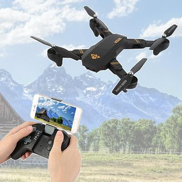VISUO Xs809HW Xs809W Foldable Drone with Camera HD 2MP Wide Angle WIFI FPV Altitude Hold RC Quadcopter Helicopter VS H47 Drone