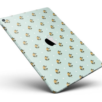 "The Micro Daisy and Mint Polka Dot Pattern Full Body Skin for the iPad Pro (12.9"" or 9.7"" available)"
