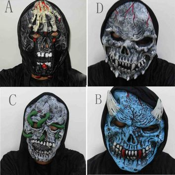 New Halloween Mask Head latex Rubber Mask Costume Theater Prop Terror Mask halloween Decorations Party Decoration Supplies Hot