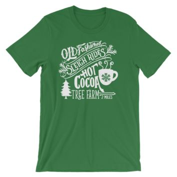 Old Fashioned Sleigh Rides and Hot Cocoa Jersey Tee