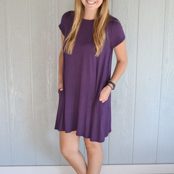 Parade Around Dress: Purple