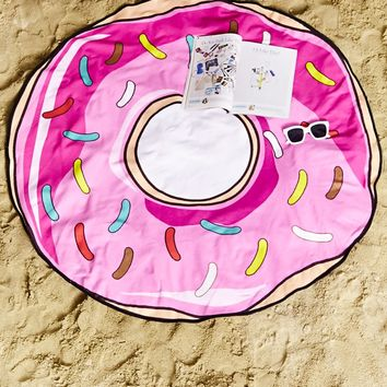 Donut Graphic Beach Towel