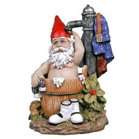 SheilaShrubs.com: Tubby The Bathing Garden Gnome Statue EU90045 by Design Toscano: Gnomes
