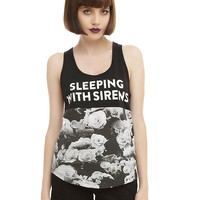 Sleeping With Sirens Floral Panel Girls Tank Top