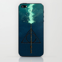 Harry Potter Deathly Hollows Expecto Patronum iPhone & iPod Skin by Aleha