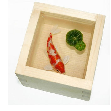 "3D Paintings Of Fish ""Koi"" In Resin Water inspired by Riusuke Fukahori"