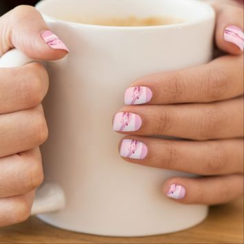 Pink Flowers n Waves Minx® Nail Art