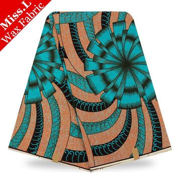 Miss.L Most popular design veritable  super wax hollandais african wax prints fabric 6yards