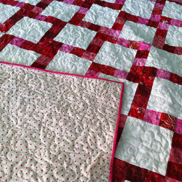 Red and Pink Quilt - Lovers Kiss