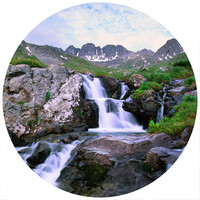 Paul Moore's Waterfall In The American Basin Circle wall decal
