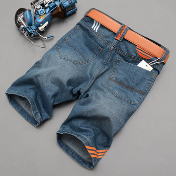 Summer Men Denim Shorts Korean Slim Jeans [6528423747]