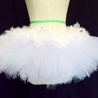 White feathers adult tutu / rave costume / edc rave attire angel