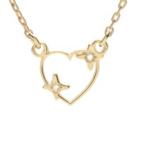Sparkle Heart Necklace - Diamond Accents