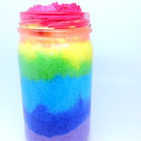 Rainbow Whipped Sugar Scrub Soap 8oz