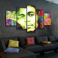 Bob Marley Abstract Canvas Set