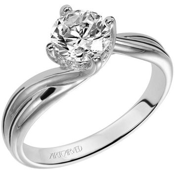"Artcarved ""Whitney"" Bypass Twist Diamond Engagement Ring"