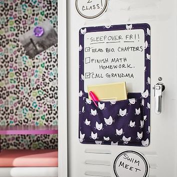 Gear-Up Purple Kitty Dry Erase Pocket