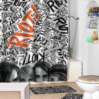 paramore shower curtains adorabel bathroom and heppy shower.
