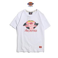 Dickies Lover Couple Fashion Casual Pink Panther Tunic Shirt Top Blouse