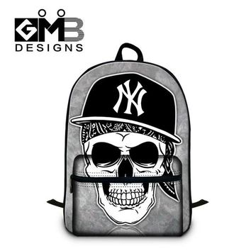 Cool Backpack school Fashionable Skull Bookbag for College stylish Back pack,School Backpacks for Boys,Cool Girl Mochila with Laptop compartment AT_52_3