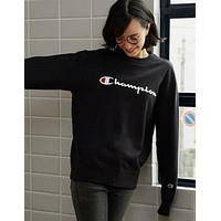 Champion Trending  Casual Women Men Pullover Long Sleeve Round Neck Sweater G