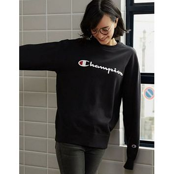 5ca03dda747 Champion Trending Casual Women Men Pullover Long Sleeve Round N