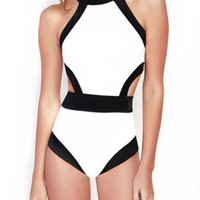 White Cut Out Swimsuit
