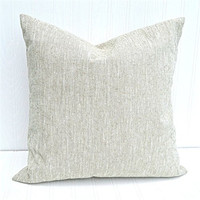 Pillow Cover 18x18 Farmhouse Natural Linen