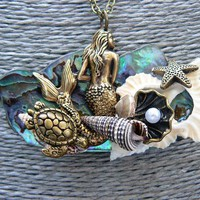 abalone mermaid necklace