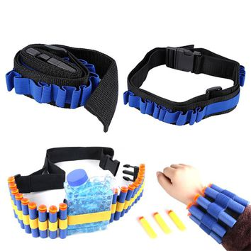 2018 Hot Sale Blue Kids Toy Gun Bullet Shoulder Strap Darts Ammo Storage Holder For Nerf For Soft Water Bandolier Toy Gun