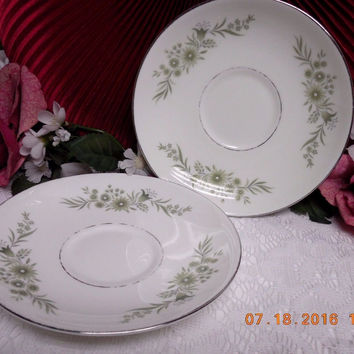 Wedgwood White China Dinnerware WestBury Pattern #: R4410- set 2 saucer
