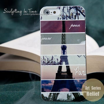 Iphone 5 case iphone 5 cases Art iphone 5 case cute iphone 5 case unique iPhone 5 Case embossment The Eiffel Tower iPhone 5 Case