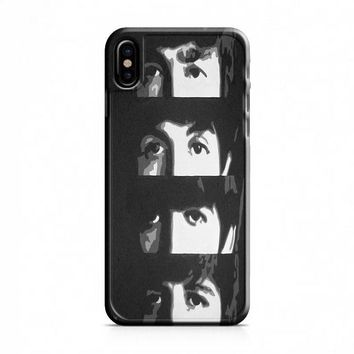 Beatles (eyes) Black iPhone X Case
