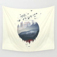 Happily lost Wall Tapestry by HappyMelvin