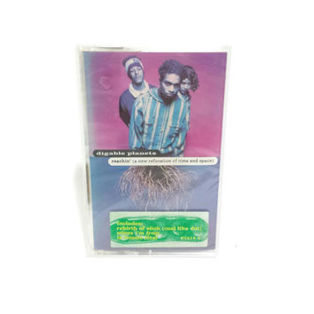 1993 Digable Planets Cassette Tape, Unused, Reachin' ( A New Refutation of Time and Space), Vintage American Alternative Hip Hop, Jazz Rap