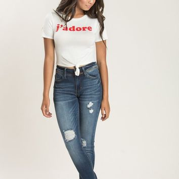 Mia J'Adore Graphic Knotted Tee