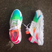 "FREE SHIPPING/DELIVERY Custom designed ""Tie Dye"" Huaraches"