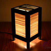 Bamboo Lamp Thai Vintage Wooden Table Lantern Bamboo Blind Style Size S by SiamLight