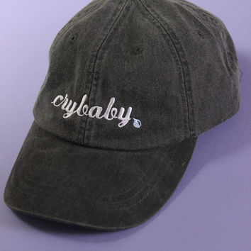 Crybaby Black Washed Baseball Cap