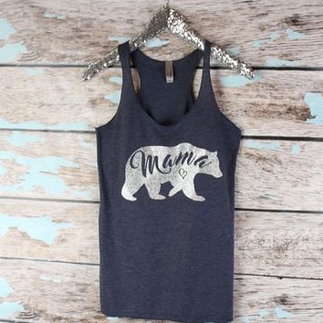 Mama Bear Tank top, Mommy tank top, Workout tank tops, Fit Mom Tank