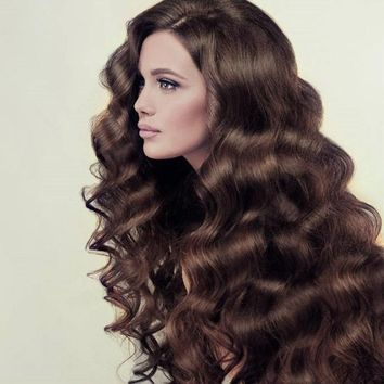 1Pcs Womens Fashion Brown Synthetic Lace Front Wig Long Curly Wigs Spiral Curls Hair