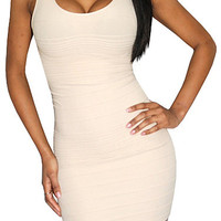 Mystery To Solve (Beige)-Great Glam is the web's top online shop for trendy clubbin styles, fashionable party dress and bar wear, super hot clubbing clothing, stylish going out shirt, partying clothes, super cute and sexy club fashions, halter and tube to