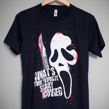 SCREAM - What's Your Favorite Scary Movie T-Shirt (XS-XL)