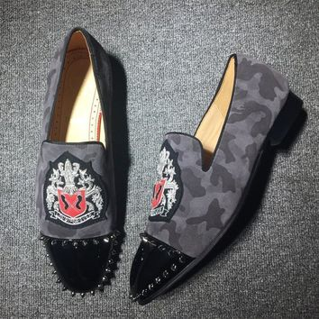 Cl Christian Louboutin Loafer Style #2410 Sneakers Fashion Shoes