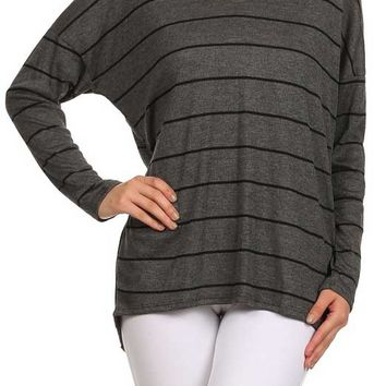 Ginger G Long Sleeve V-neck Top for Women K7039
