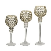 Silver Honeycomb Charismas, Set of 3